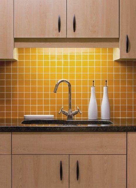 Daltile 4 1 4 Mustard Lot 50 Retro Ceramic Glazed Semi Gloss Wall Mosaic Tile Daltile Mod Maple Kitchen Cabinets Kitchen Cabinet Design Yellow Kitchen Tiles