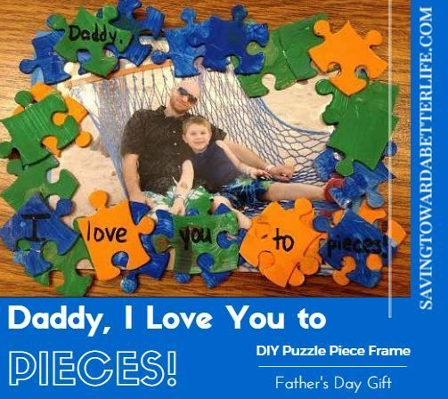 I Love You To Pieces Diy Puzzle Piece Frame Gift Diy Gifting