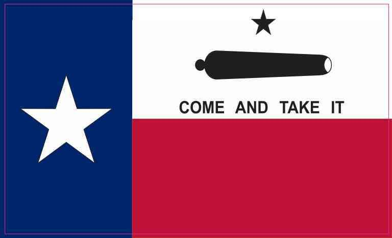 5in X 3in Come And Take It Texas Flag Sticker Come And Take It Texas Flags Flag
