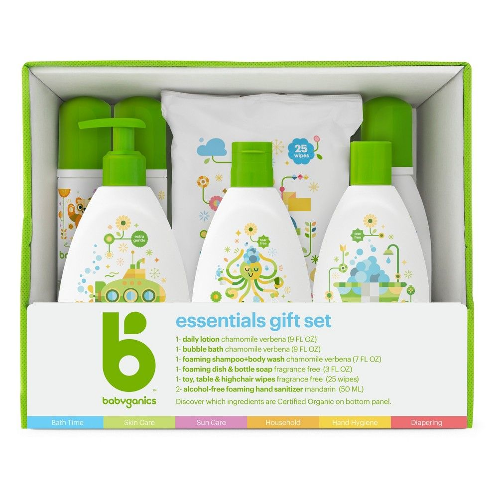 Babyganics Baby Safe World Essentials Kit Baby Shampoo Gifts