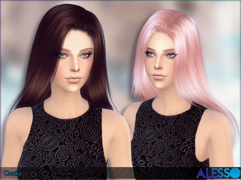 Long Straight Hair For Ladies Found In Tsr Category Sims 4 Female Hairstyles Straight Hairstyles Sims Hair Hair Styles