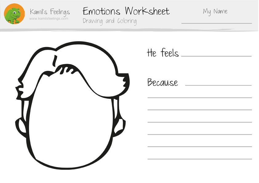 Emotions worksheets for children and teaching emotions lesson plan ...