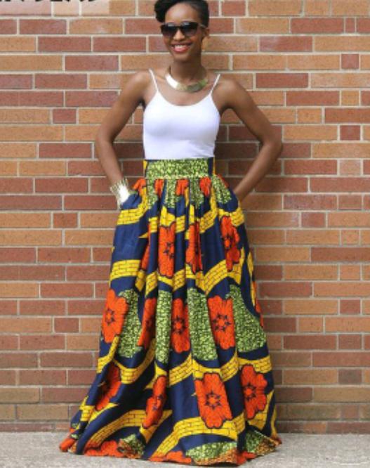 afrikaanse kleding | afrikaanse klederdrachten - african print skirt