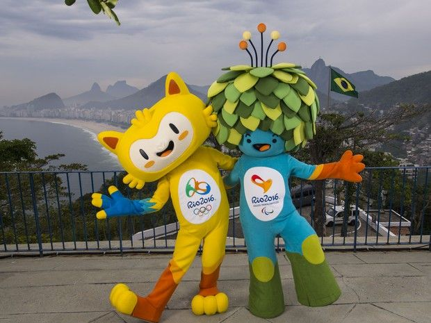 "Rio Olimpic Games 2016 Mascots - They don't have names yet....Problably will be "" Tom and Vinicius"""