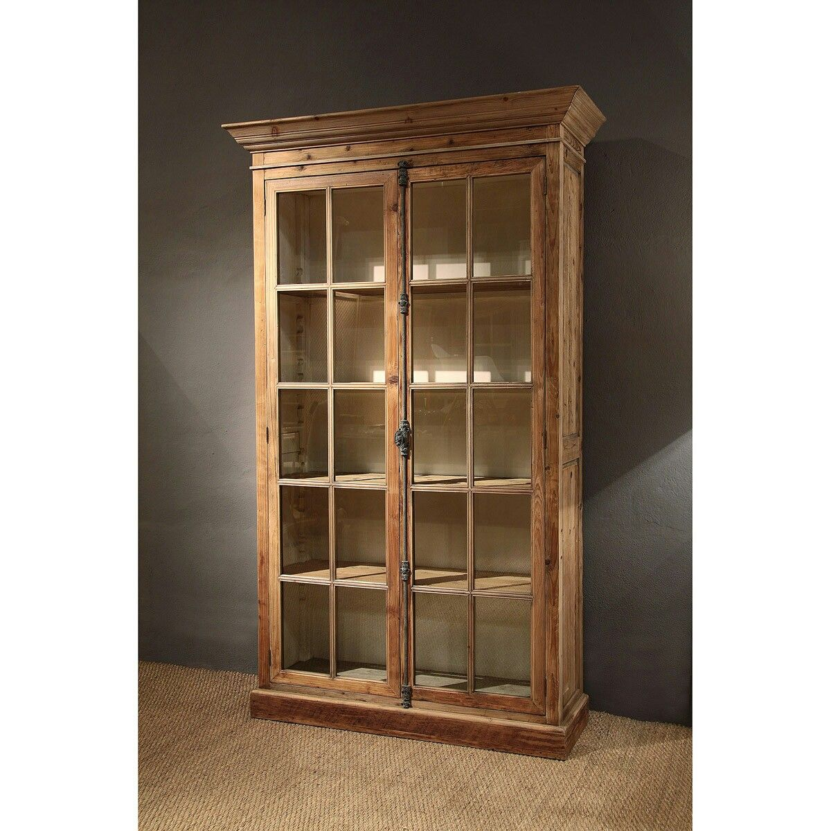 Vitrina con pasador madera natural reciclada muebles al natural furniture kitchen armoire y - Muebles al natural ...