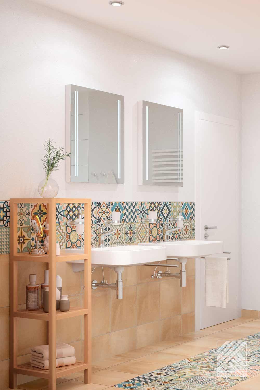 Musterbad Sevilla   HORNBACH   Bad inspiration, Badezimmer ...