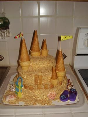 Sand Castle Cake This cake took many different ingredients It has