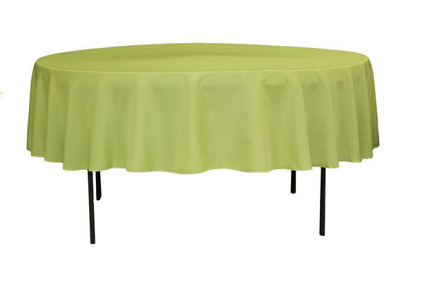 Polyester 90 Round Tablecloth Apple Green 90 Round