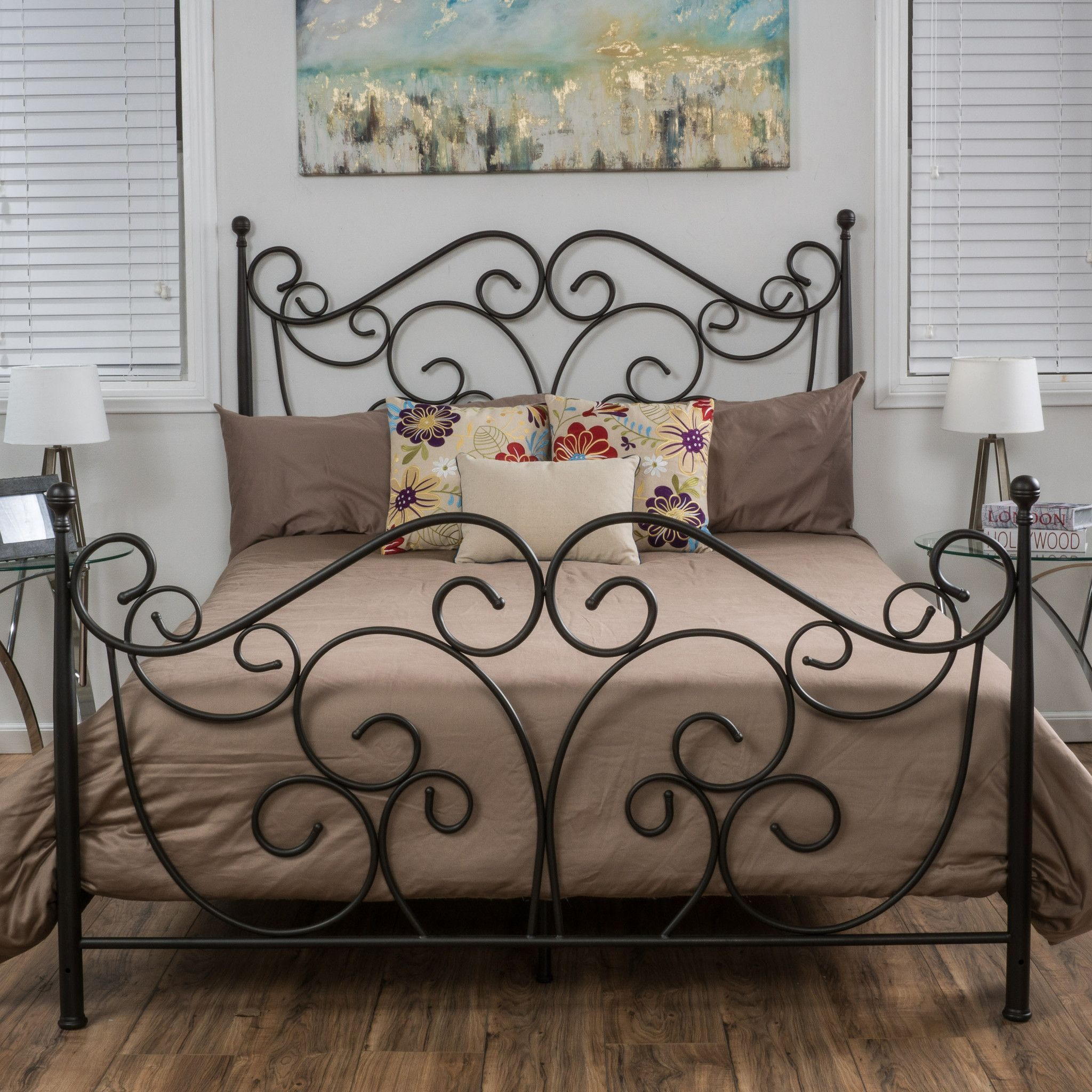 Denise austin home horatio metal bed frame denise austin metal