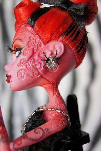 OOAK Monster High Operetta doll repaint #ooakmonsterhigh OOAK Monster High Operetta doll repaint | by RaquelClemente #ooakmonsterhigh