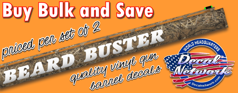 Custom Gun Shotgun Barrel Vinyl Decal Custom Vinyl Decals - Custom shotgun barrel stickers