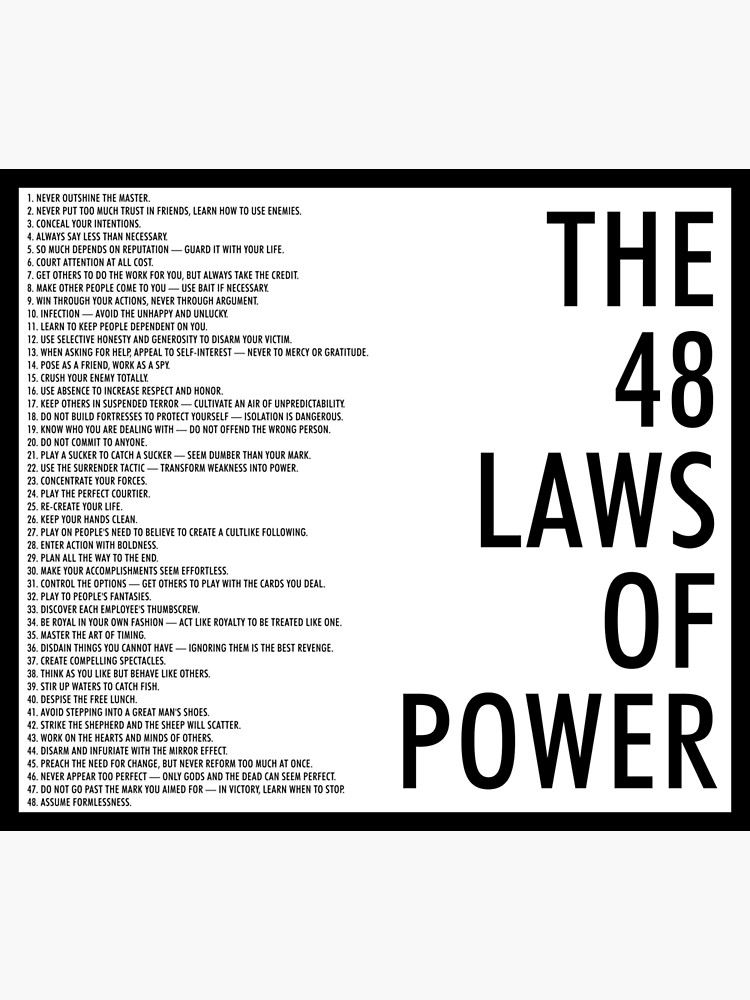the 48 laws of power Photographic Print by arch0wl