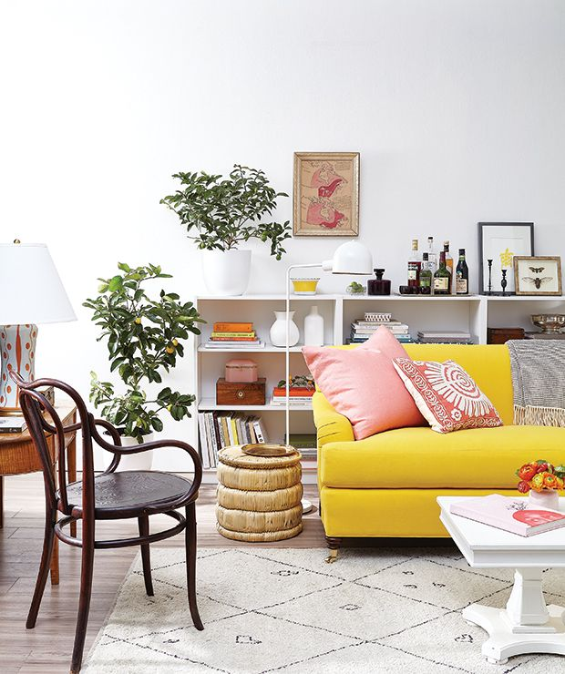 banish the winter blahs with a citrus inspired palette - Yellow Couch