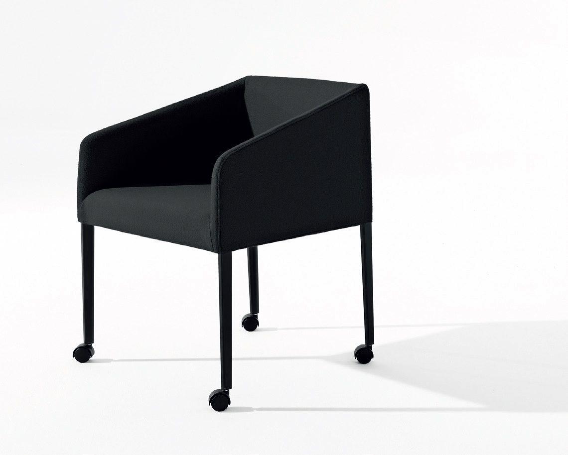 Saari petit fauteuil à roulettes by arper design lievore altherr