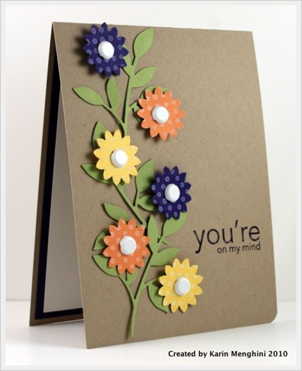 30 Cool Handmade Card Ideas For Birthday Christmas and other – Handmade Birthday Cards Designs