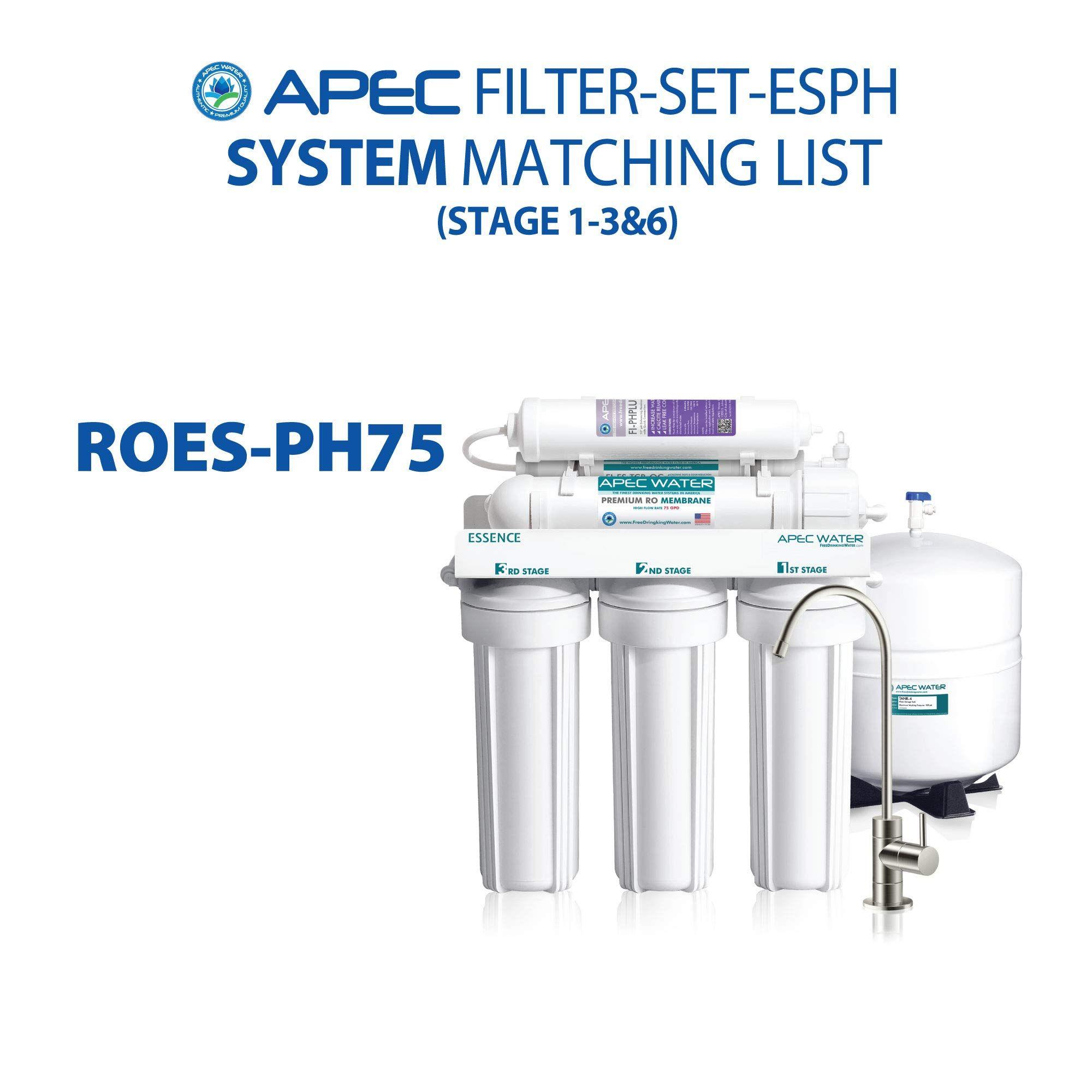 Apec filtersetesph high capacity replacement filter set