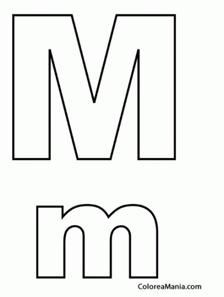 Letra M Para Colorear Buscar Con Google Letra M Letras