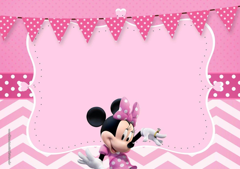 Invitación Minnie En Rosa Tarjetas De Invitacion Minnie