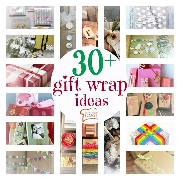 Over 30 gift wrapping ideas! Gorgeous feast for your eyes