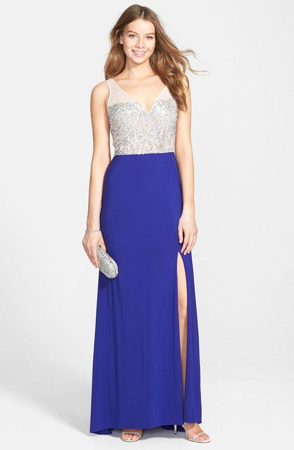 Beaded Open Back Jersey Gown | M Y . D E S I G N S | Pinterest ...