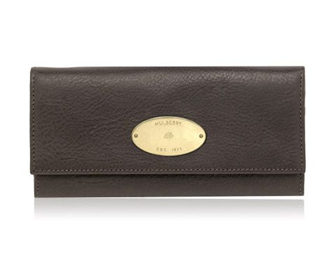 Mulberry - Continental Wallet in Chocolate Natural Leather ... 534ae8a365ca9