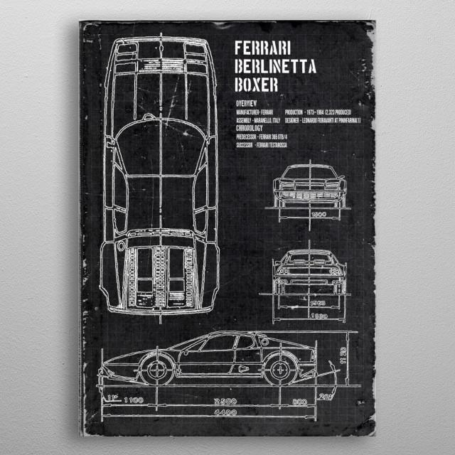 Ferrari Berlinetta Boxer by FARKI15 DESIGN | metal posters - Displate | Displate thumbnail