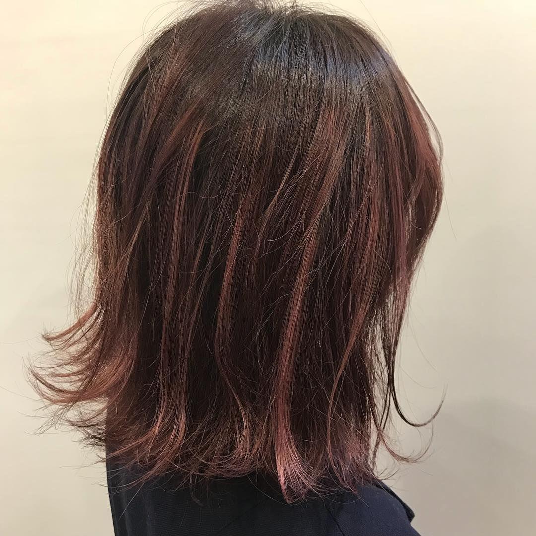 ピンクハイライトピンク系の色味にピンクのハイライトピンクのハイ