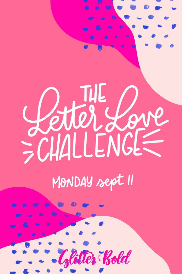 The Letter Love Challenge | Calligraphy practice, Planners and Layouts