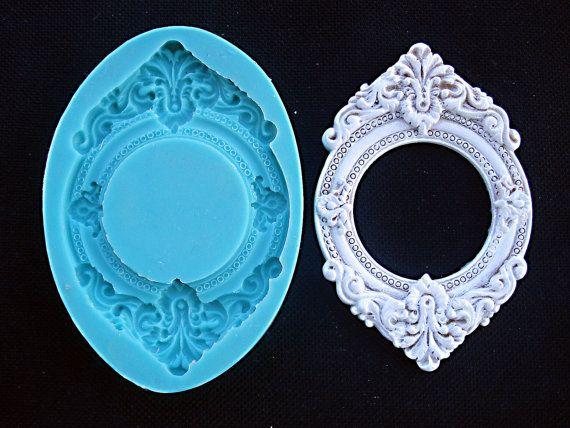 Silicone Mould Vintage Frame Sugarcraft Cake Decorating Fondant Fimo Mold Vintage Frames Craft Molds Fimo Molds