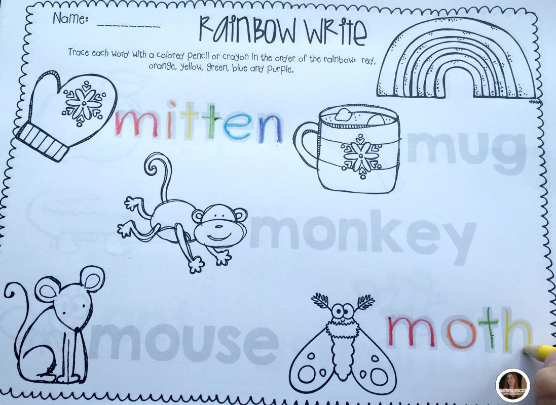 Rainbow Write For Kindergarten And First Grade