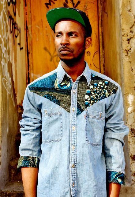 http://www.focustextil.com.br/ebookfocus/#express/20130176 Afro punk - Male shirt I'd wear it, I'd wear him. #FocusonJeans® #indigos #chambrays #FocusTextil