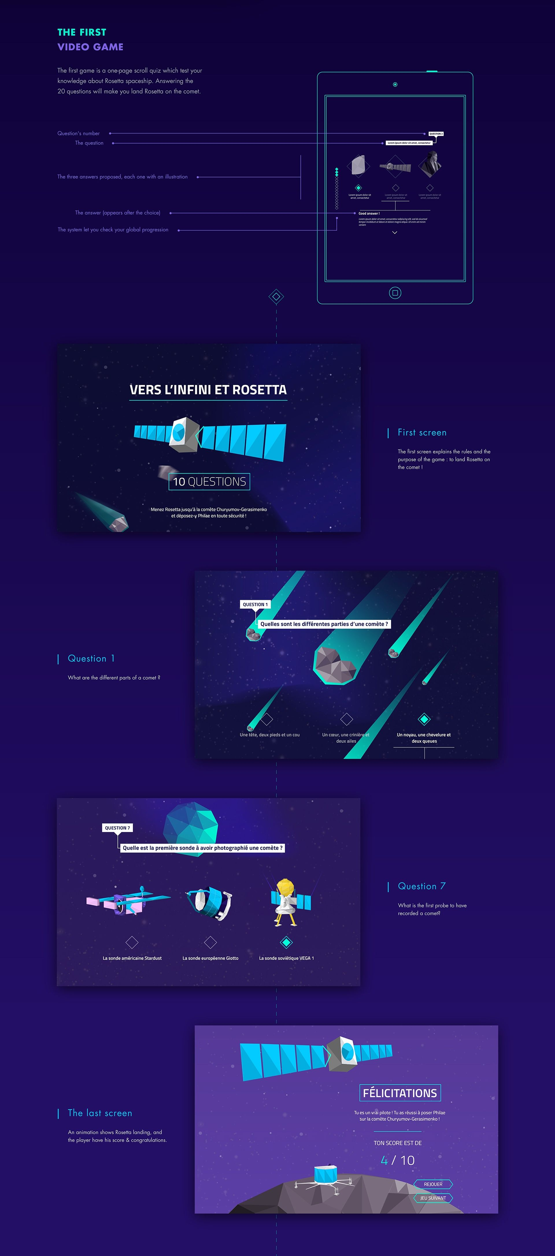 Comet Exhibition Website Video games Illustration on