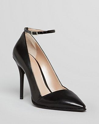 2ab2b4a7929 DKNY Pointed Toe Pumps - Saffi Ankle Strap High Heel ...