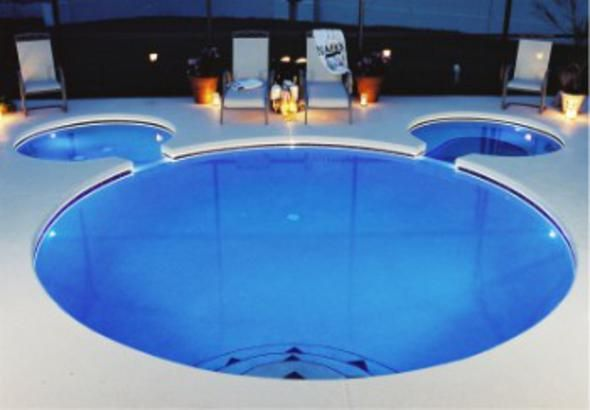 Our Own Mickey Mouse Shaped Pool Disney Backyard In 2019 Disney Home Disney Home Decor