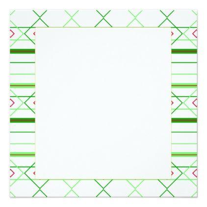 Diamond Stripes Minimal Green Pattern Blank Card - minimal gifts - blank card template