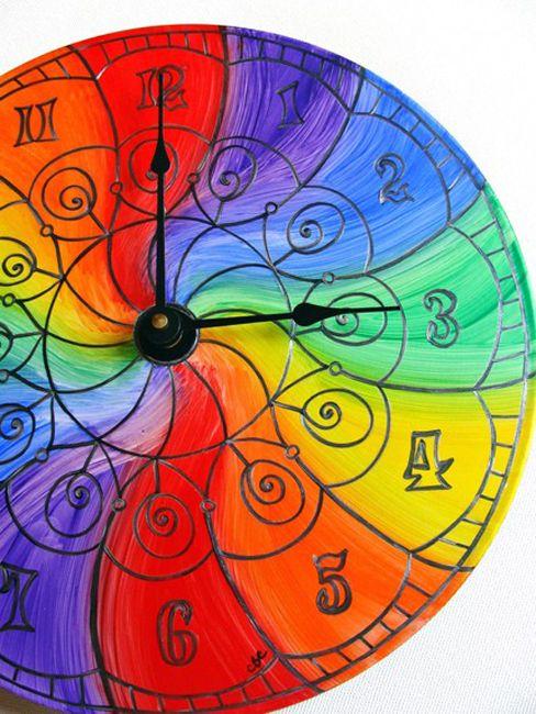 Color Wheel Clock Rainbow Christine Bailey Claringbold Clock Rainbow Rainbow Colors