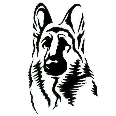 German shepherd dog tattoo design artroom pinterest - Dessin de chien berger allemand ...