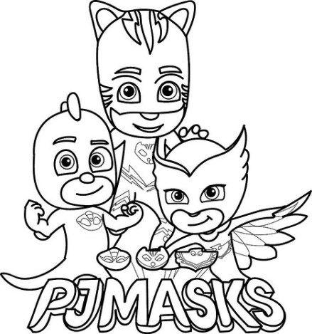 Dibujos e Imágenes de PJ Masks para Imprimir y Colorear | Party ...