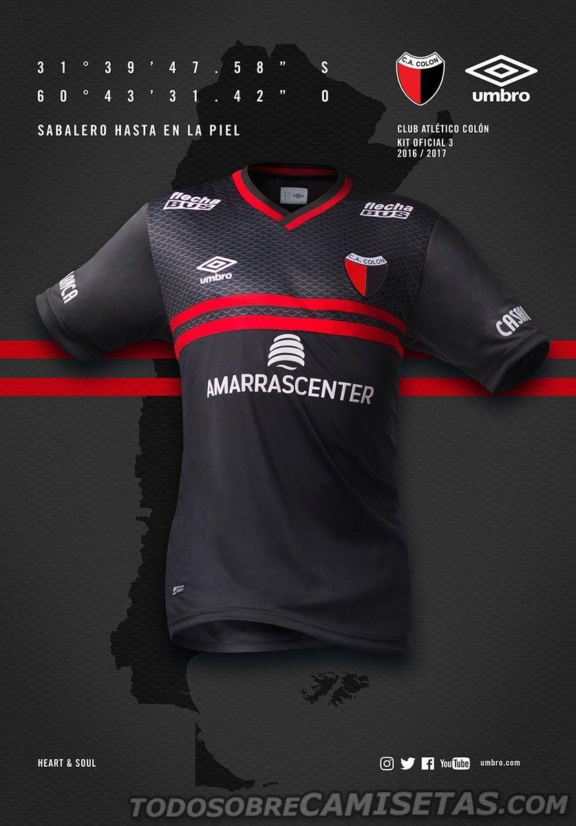Tercera Camiseta Umbro Colon de Santa Fe 2016-17  6c8a08a577d61