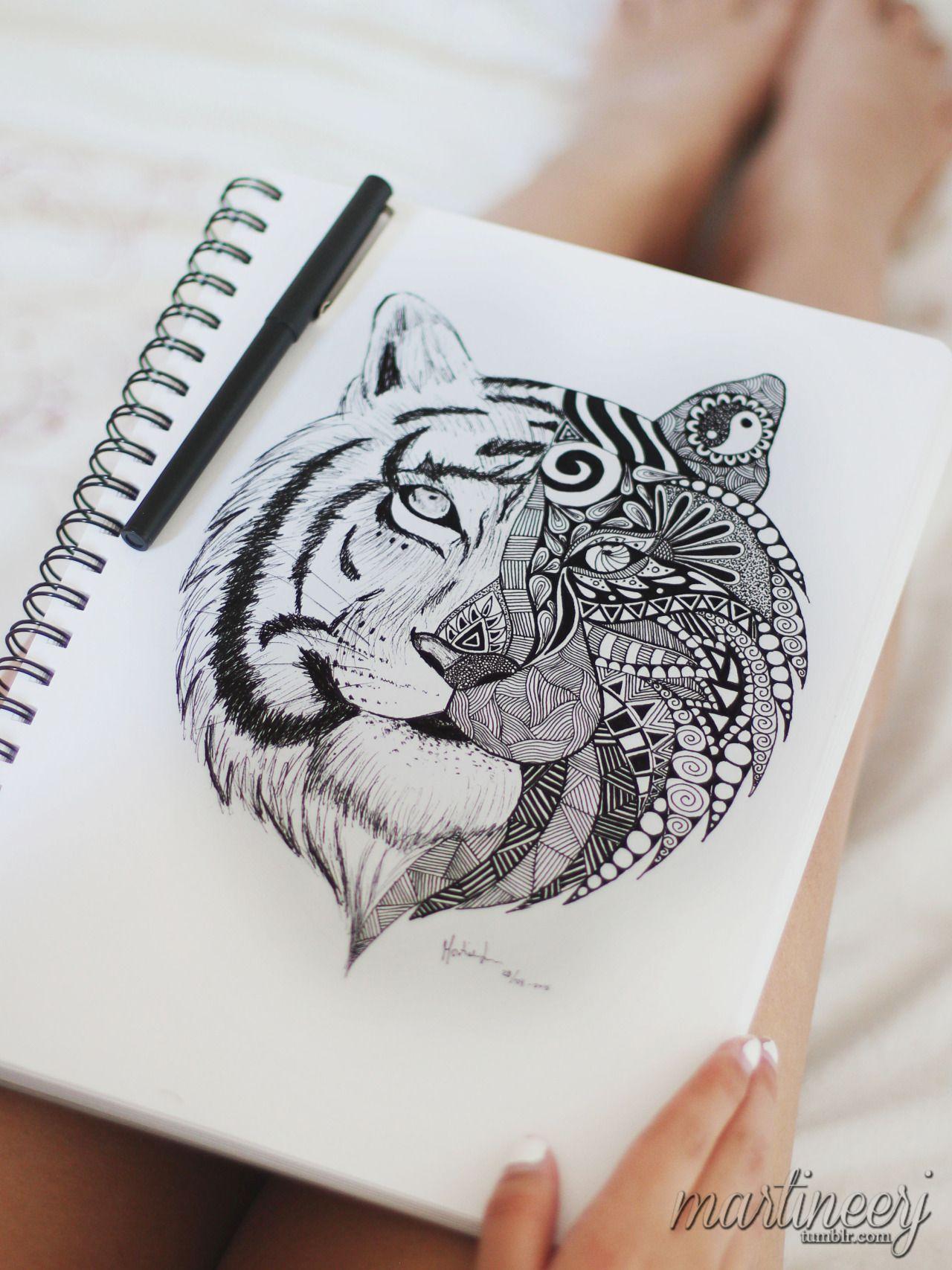 Mandala tiger tattoos mandala tattoo tattoos y mandala thigh tattoo - Tigre mandala ...