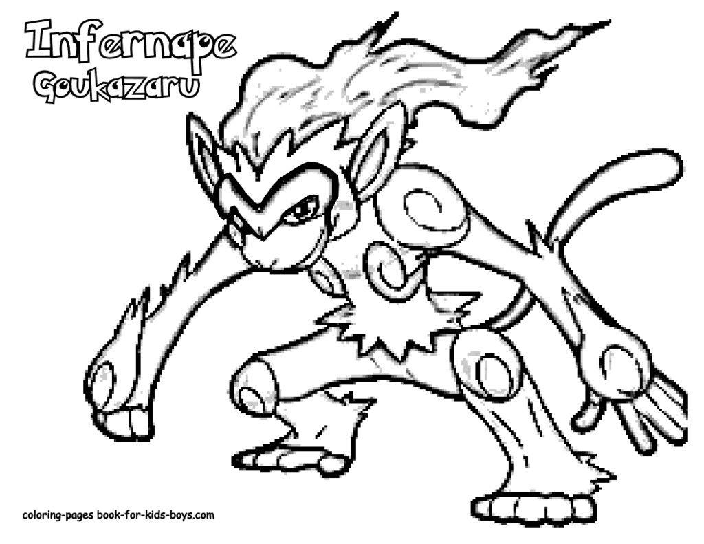 Pokemon Coloring Pages Infernape Designs Trend