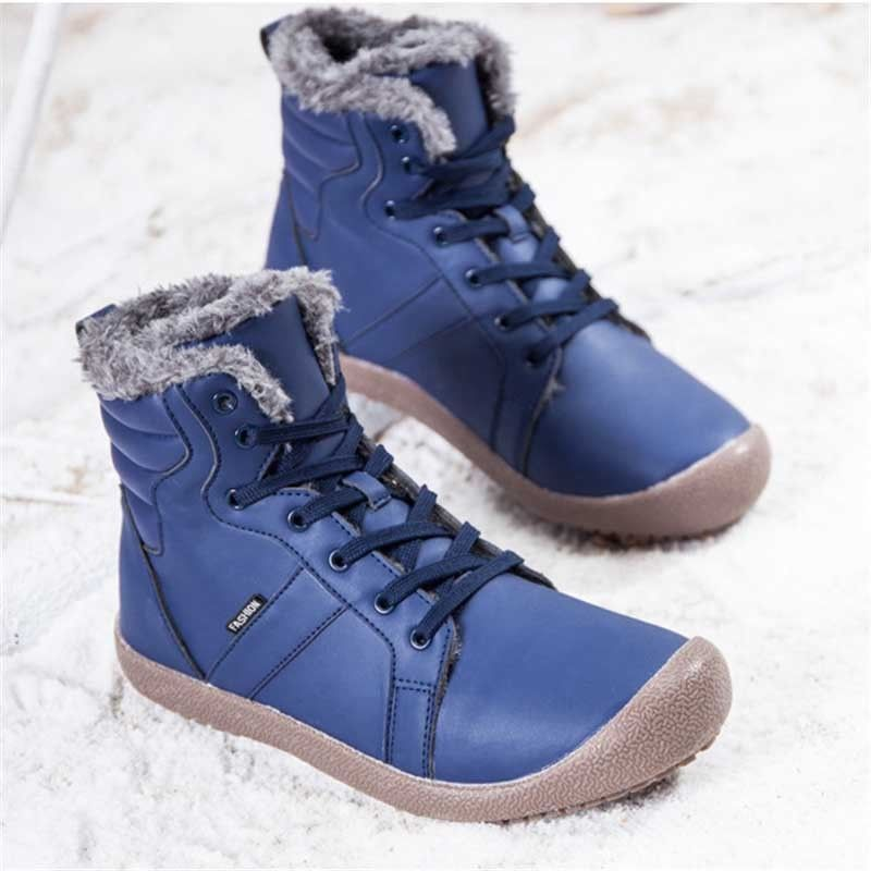 Women Snow boots thickening High Wedge Heel Winter Warm Middle Side Zipper Shoes