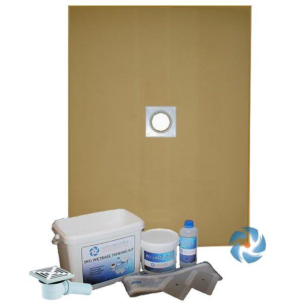 Wet Room Walk In Shower Tray Kit Centre Drain 1200 X 1200 X