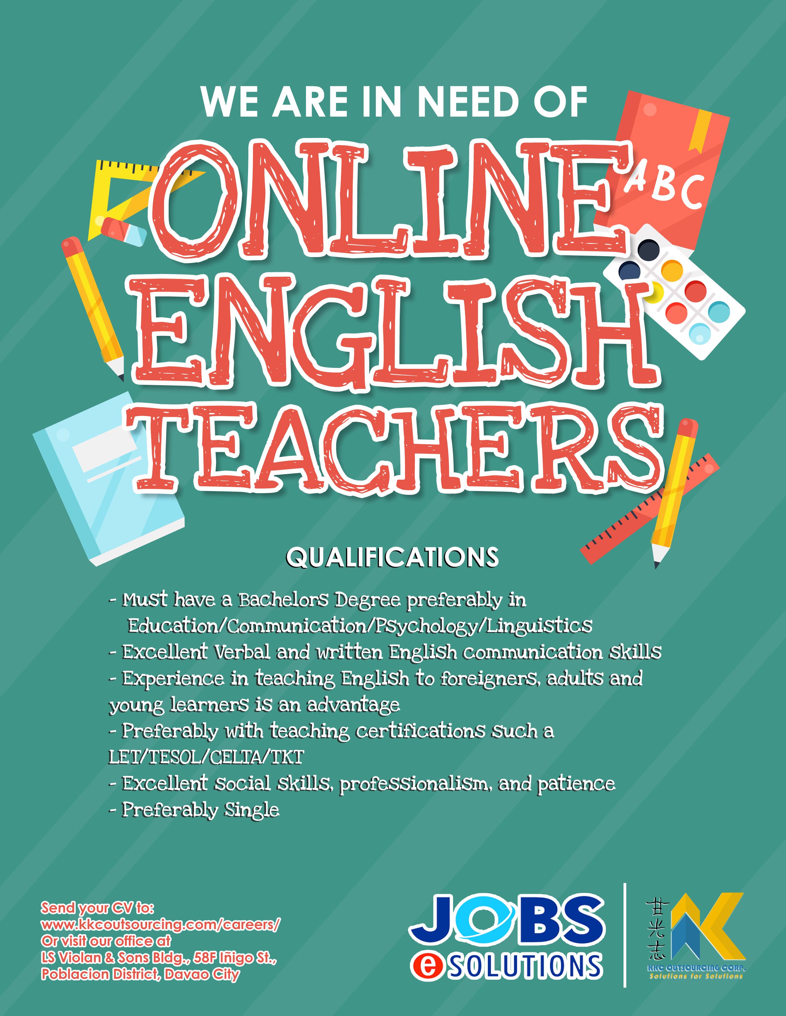Online English Teachers Job Hiring Poster English Teacher Jobs Online English Teacher Teacher Posters