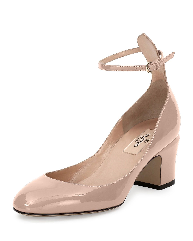 0ffb0d3123b0 Red Valentino Tango Patent Ankle-Wrap Pump