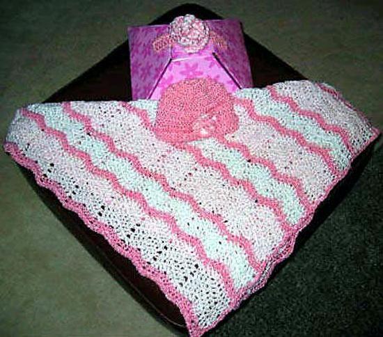 Monicas Simple Ripple Crochet Baby Blanket Free Crochet Pattern