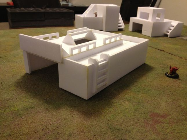 Terraining Day 09 – Foamcore Buildings Take 2 | Gaming and