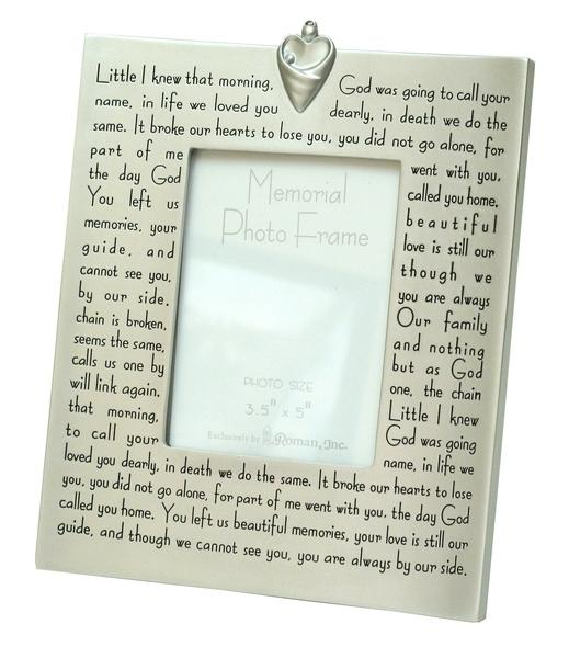 Roman Broken Chain Memorial Frame with Verse | Verses, Roman and ...