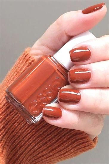 Burnt-Orange - Fall Nail Colors #NailColors #prettynails - Nagel ideens