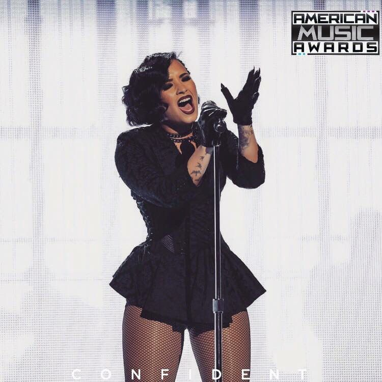 Demi performing at the AMA'S
